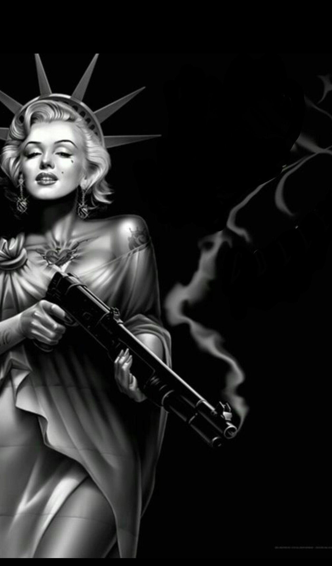 Tattooed Marilyn Monroe Wallpaper