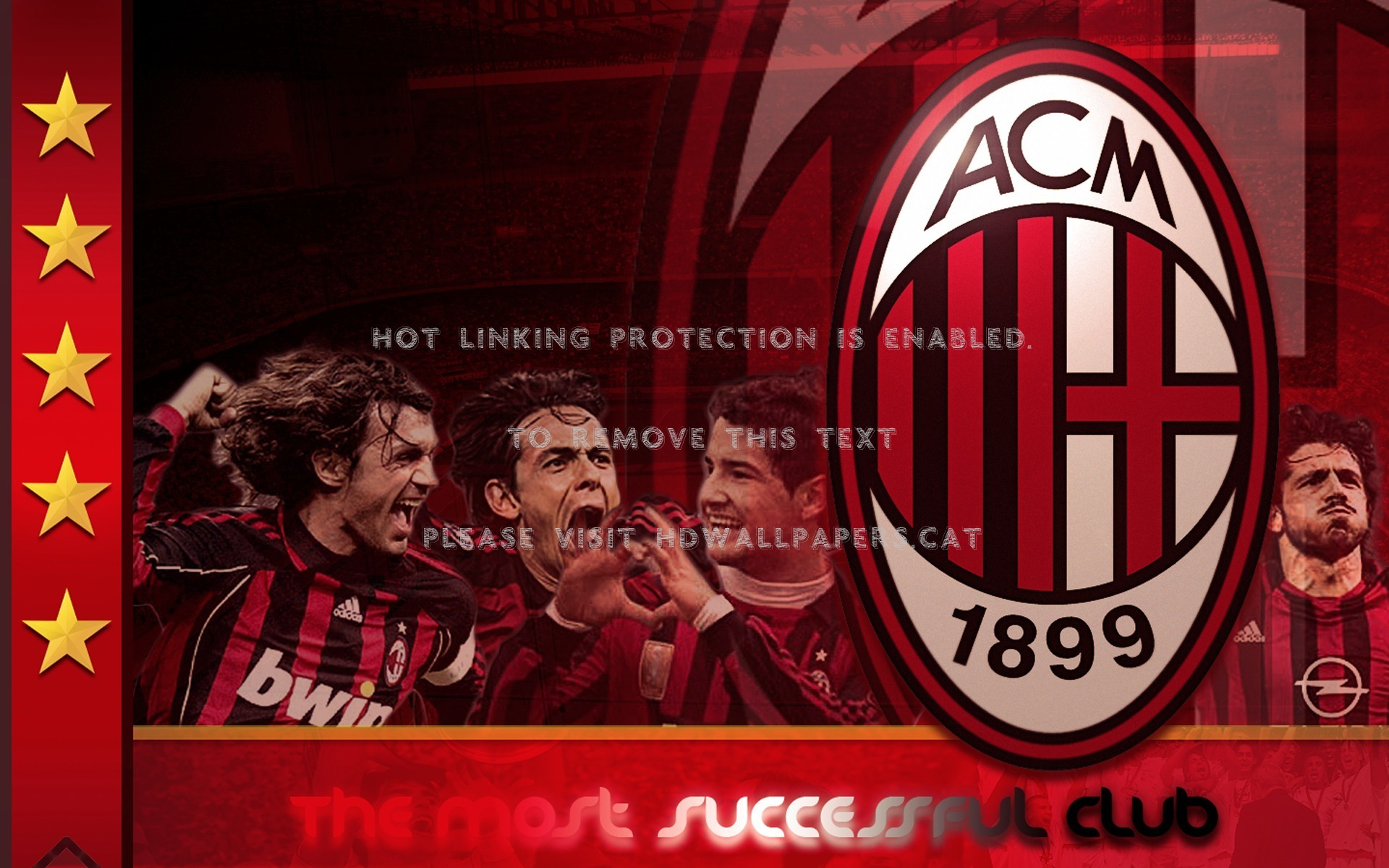 ac milan fan wallpaper ronaldinho maldini 1920x1200