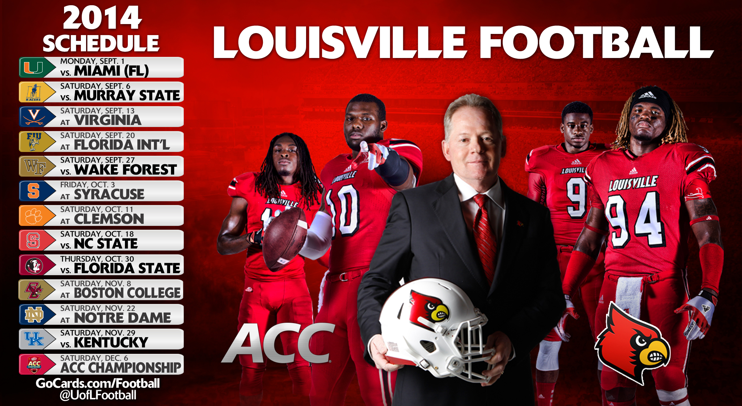 University Of Louisville Football Wallpaper - WallpaperSafari