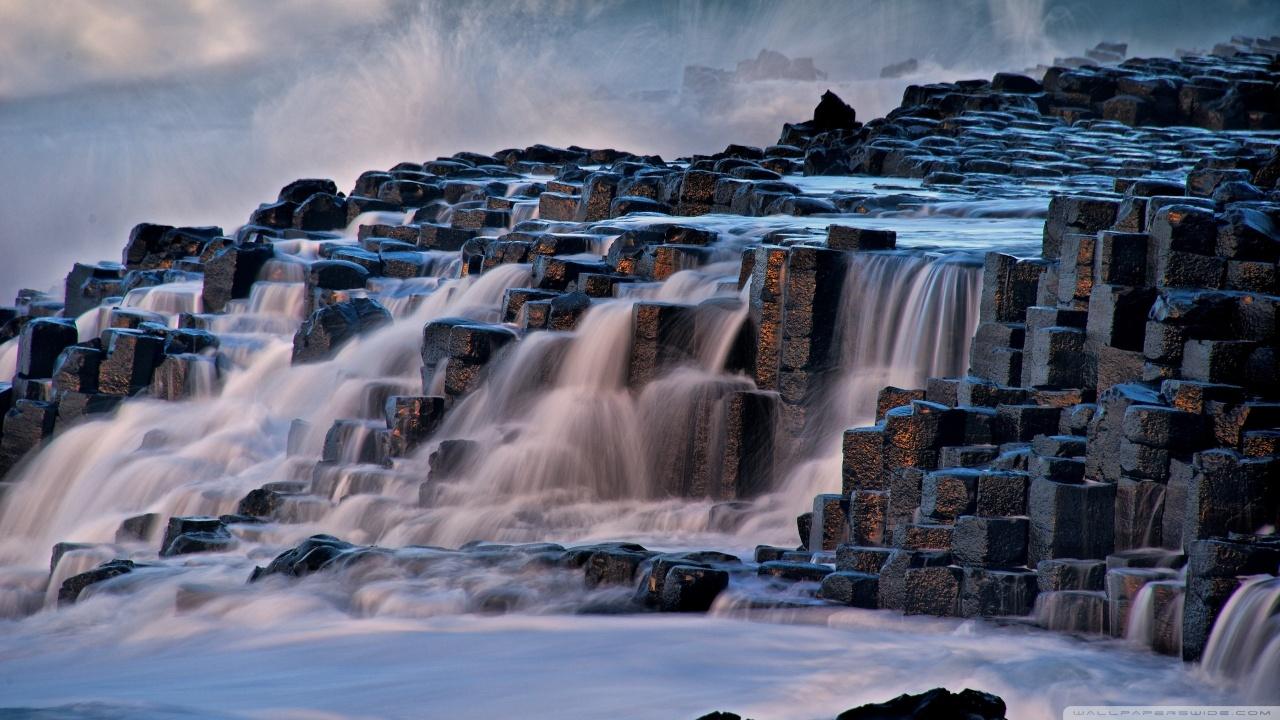 Giants Causeway Antrim Northern Ireland 4K HD Desktop Wallpaper 1280x720