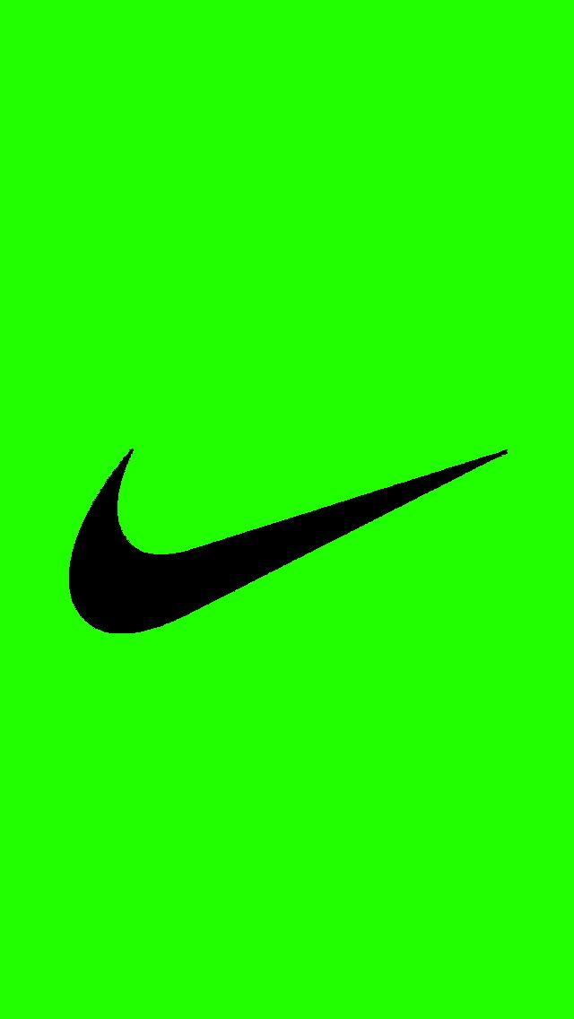 Nike Symbol Wallpaper Bright green nike logo 640x1136
