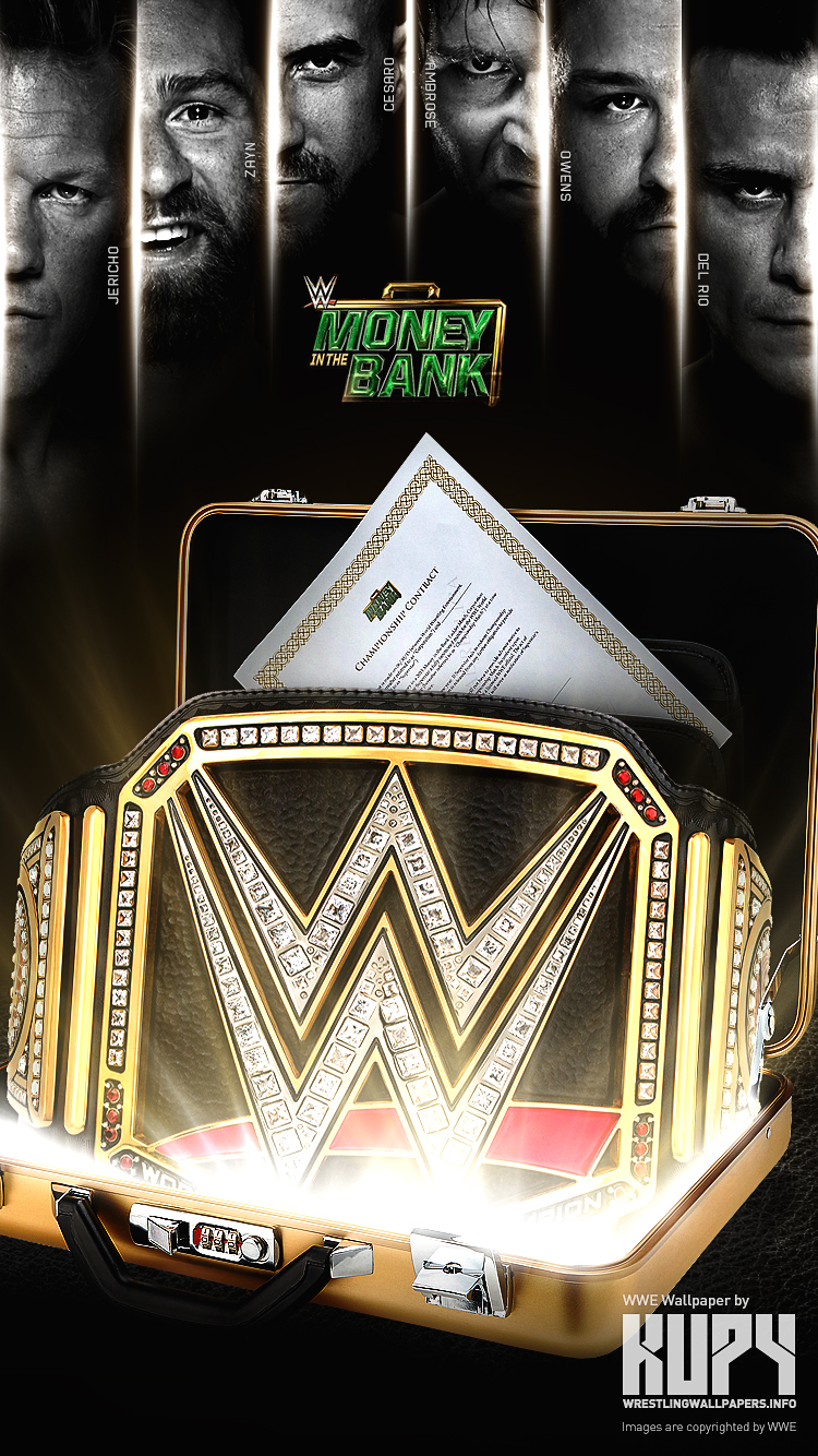 NEW 2016 Money In The Bank ladder match wallpaper   Kupy 750x1334