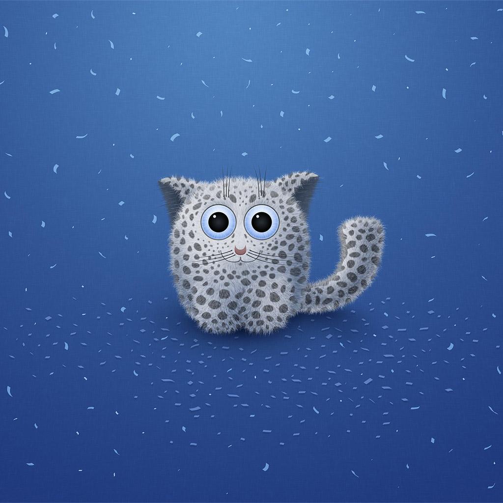 Cute cat ipad wallpaper to download 1024x1024
