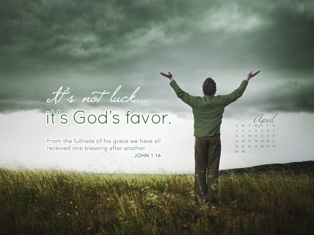2012   Gods Favor Desktop Calendar  Monthly Calendars Wallpaper 1024x768