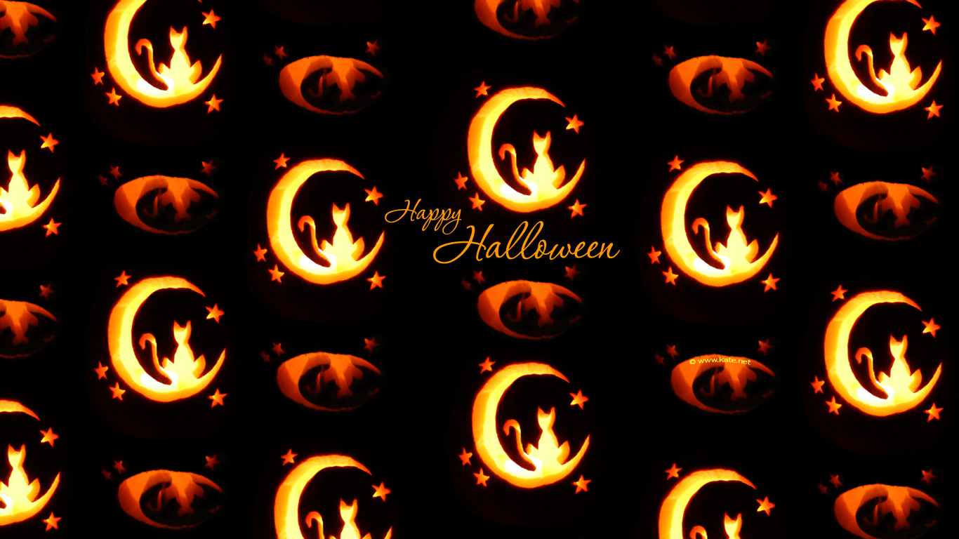 Back Gallery For halloween screensavers and wallpaper 1366x768