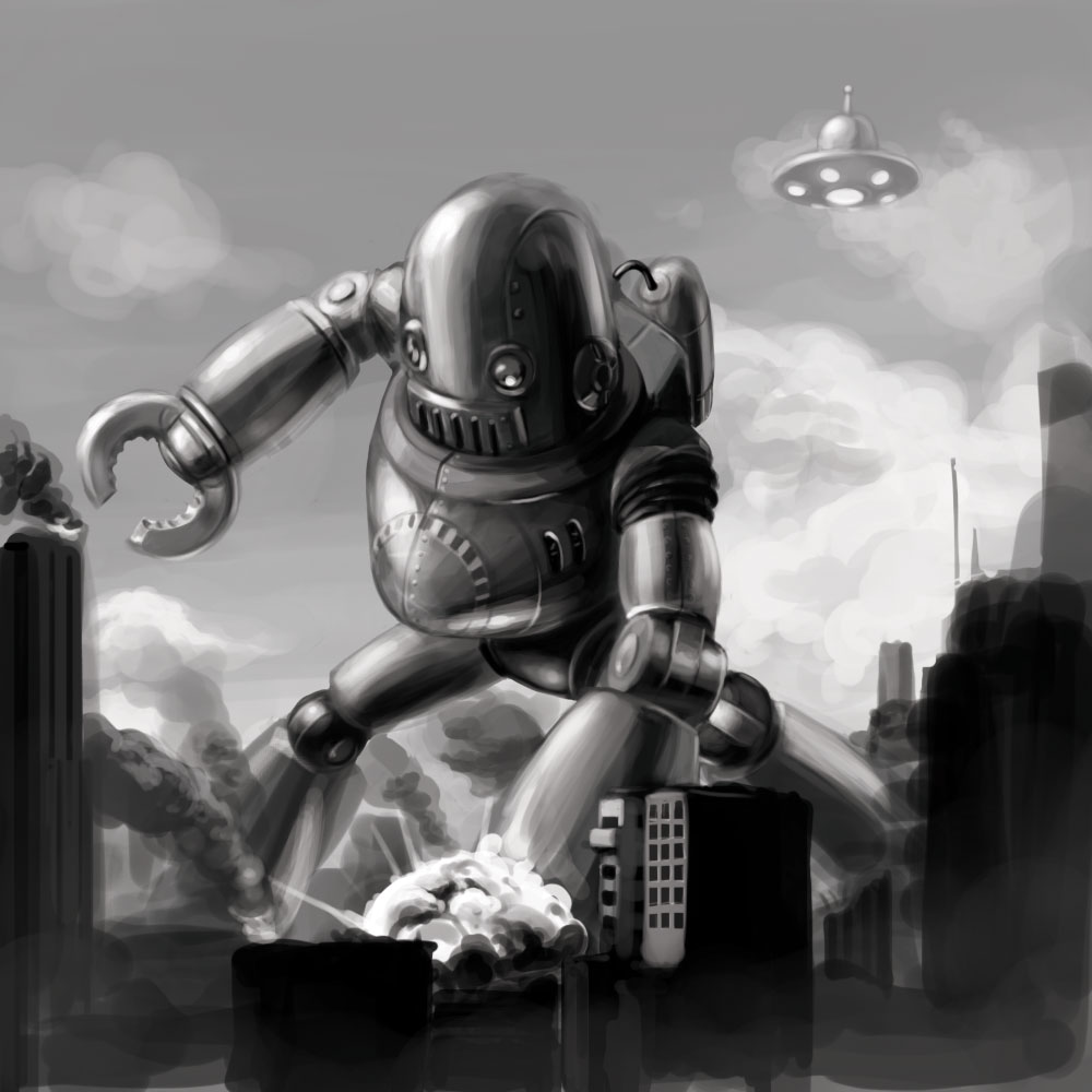 Retro Robot Wallpapers Retro Robot From Outer 1000x1000