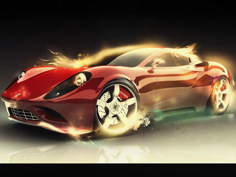 can download Gambar Ferrari 3D Wallpaper HD Desktop to your computer 970x726