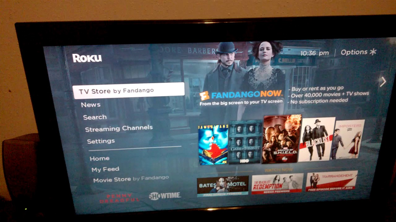 How to change a background from Roku 1280x720