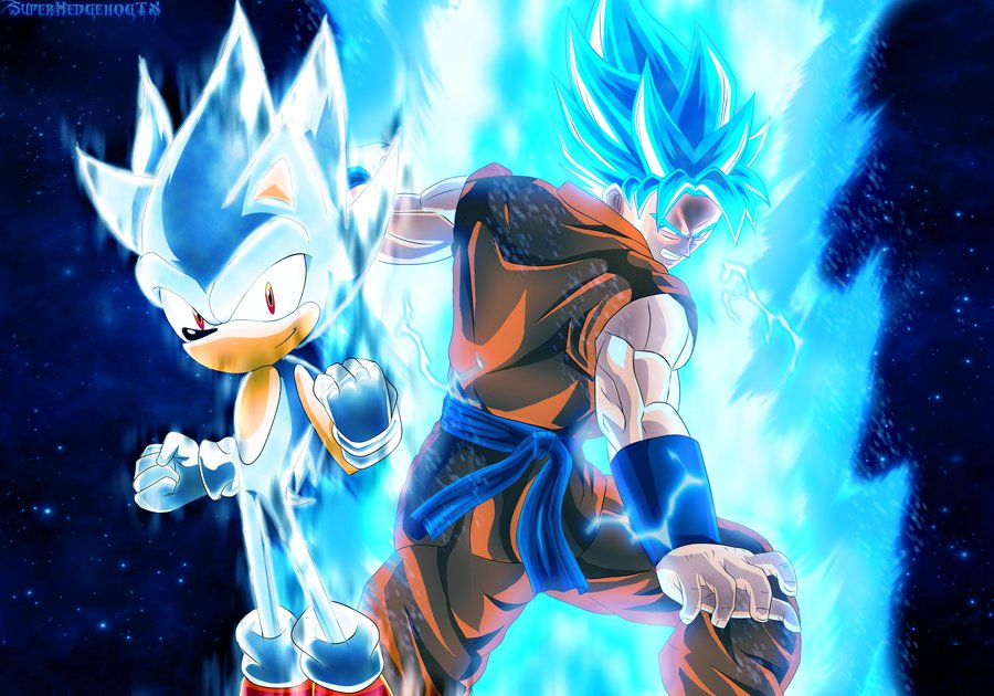 Hypersonic y SSGSS Goku by SuperhedgehogTX 900x630