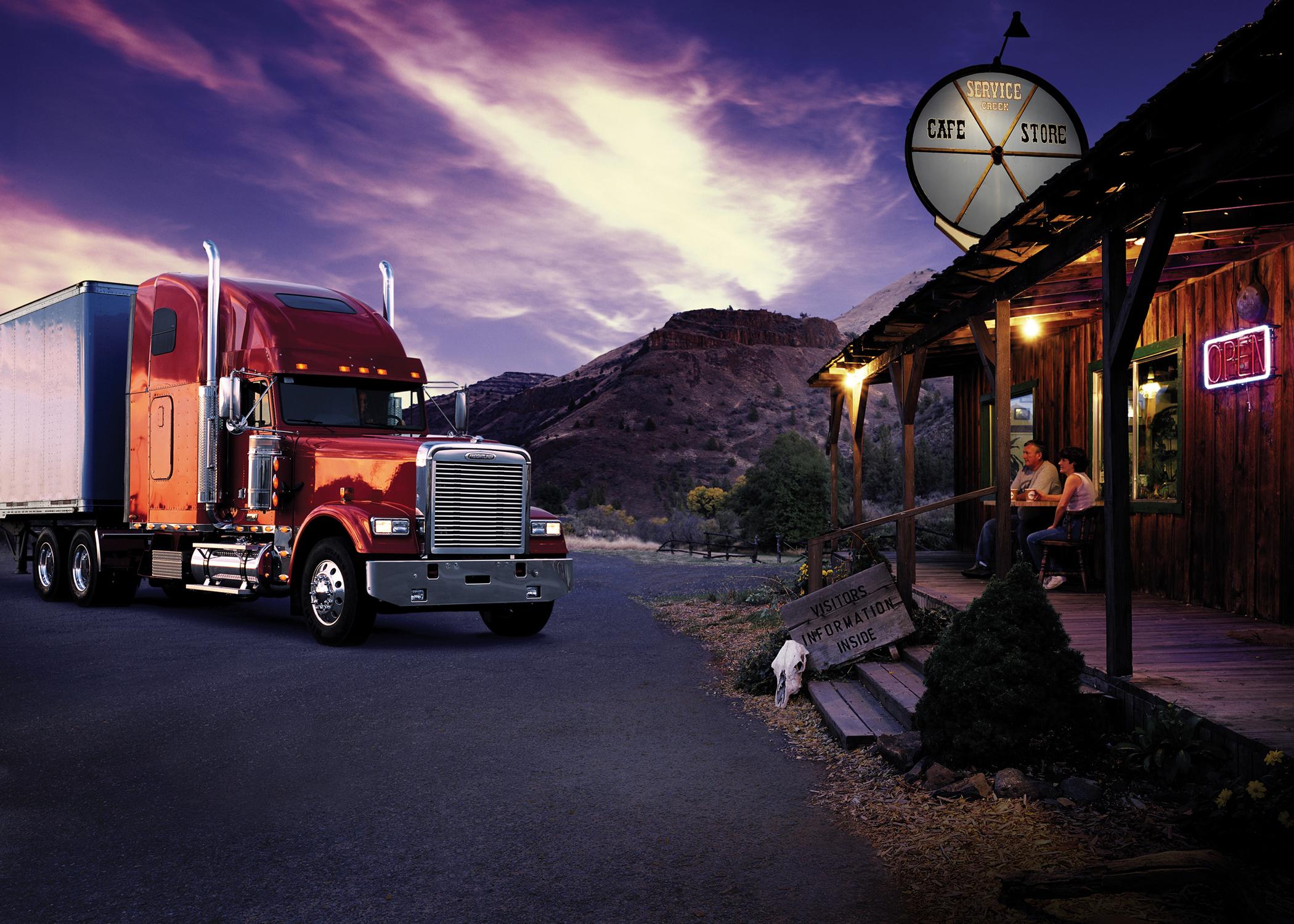 freightliner semi tractor trucks wallpaper background 2100x1500
