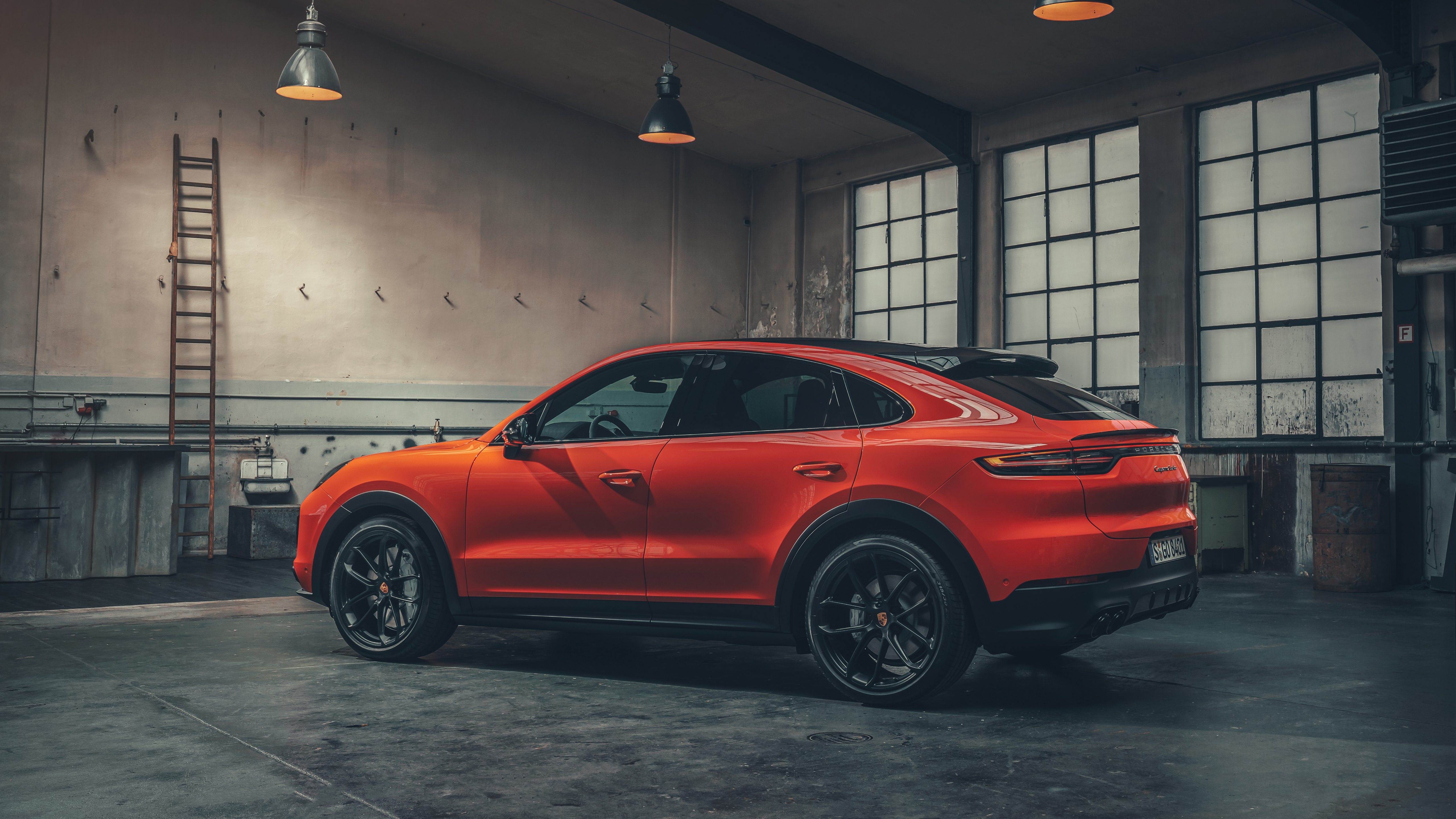 Porsche Cayenne Turbo Coupe 2019 4K 2 Wallpaper HD Car 5120x2880