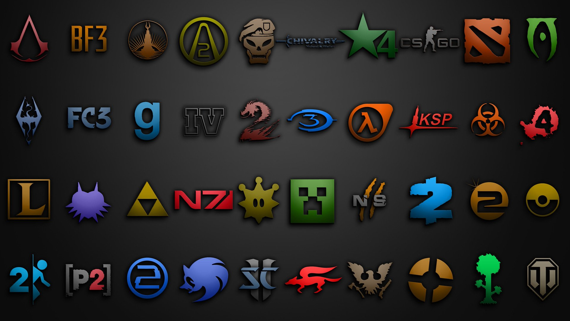 Video Game Icons 1920x1080