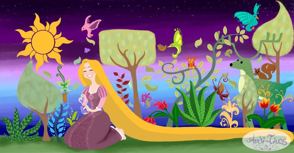 Rapunzel mural by Andi Tiucs 1024x534