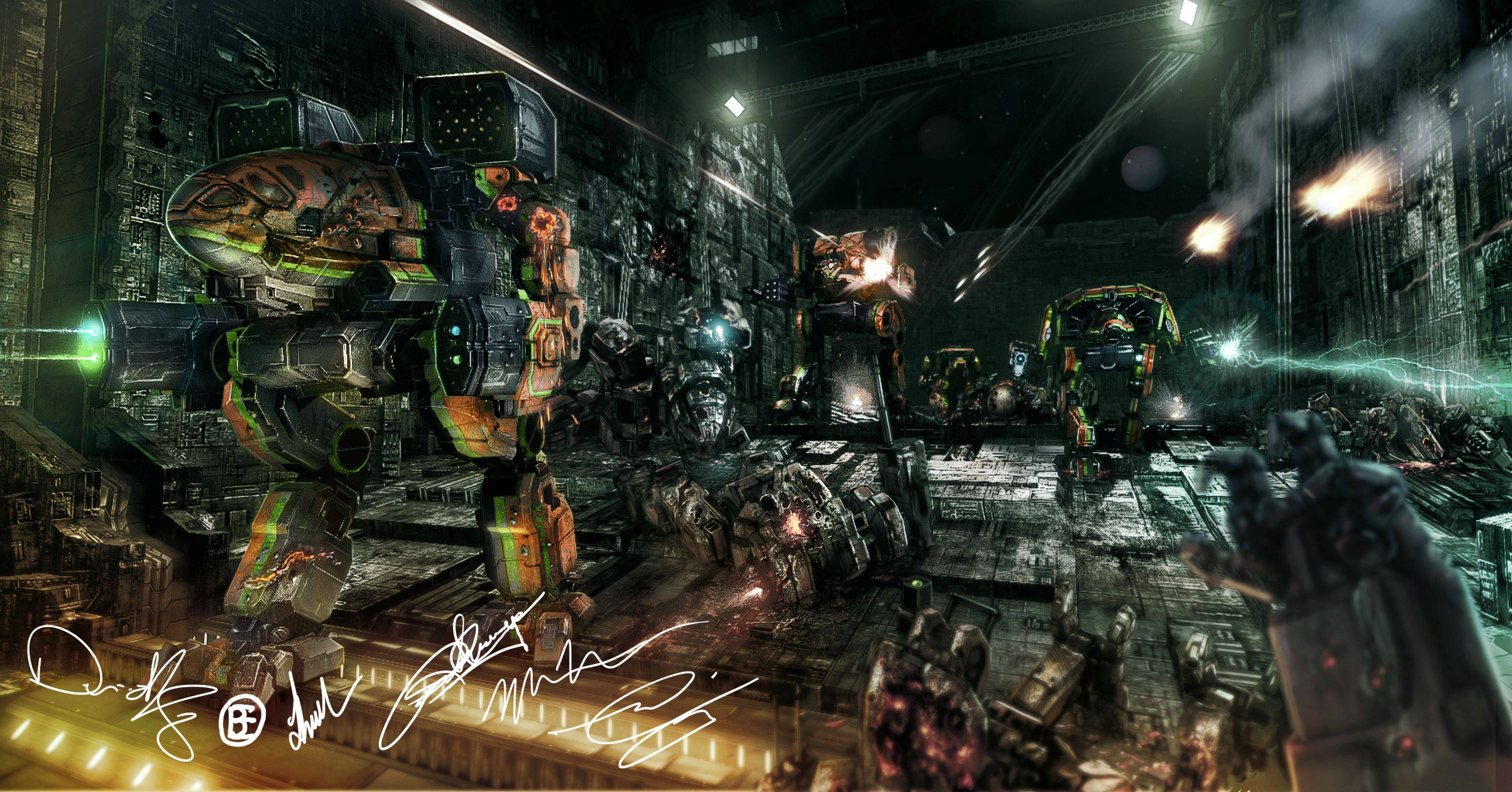 12 MechWarrior HD Wallpapers Backgrounds Wallpaper Abyss 3600x1886