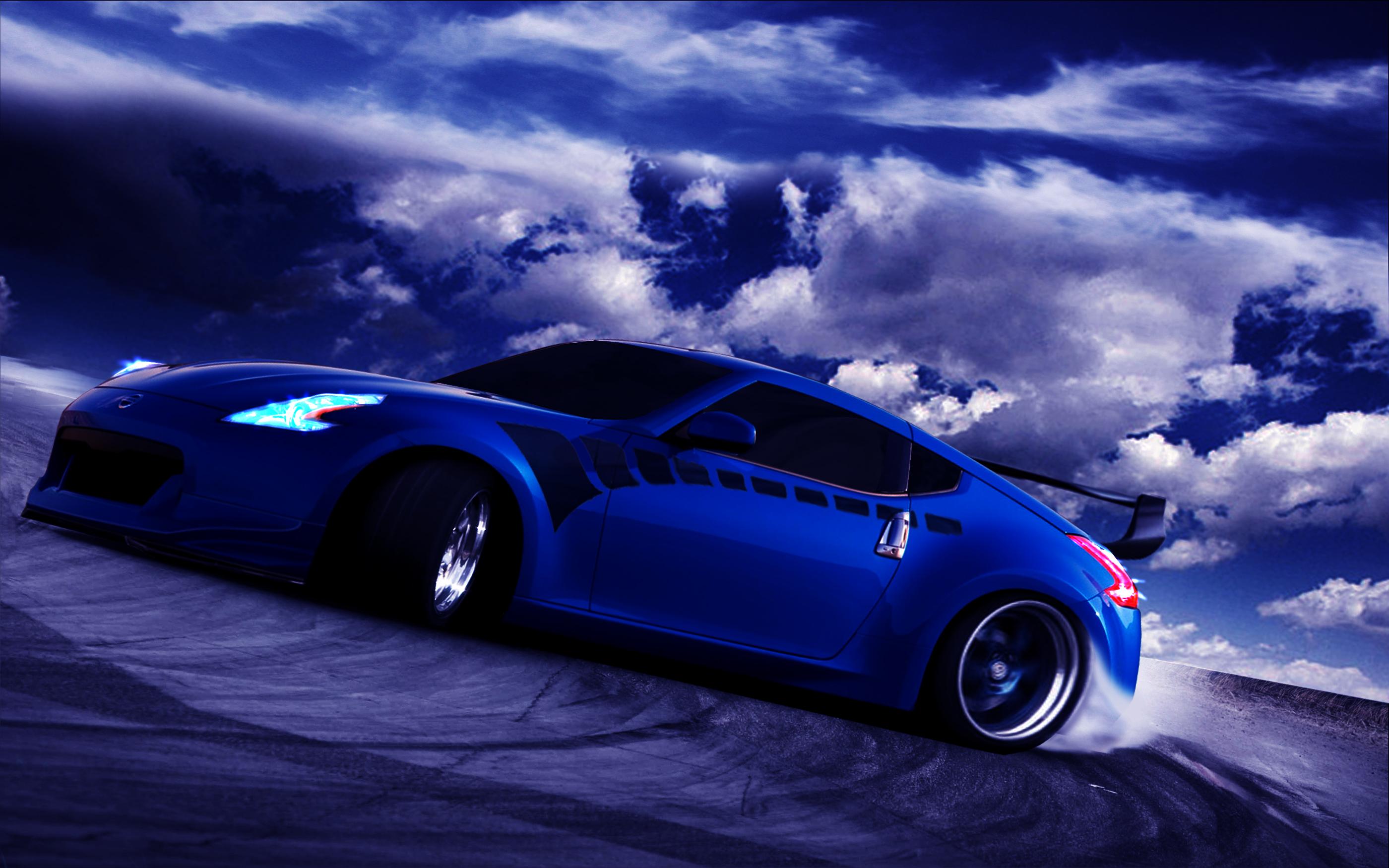 спортивный автомобиль синий  № 3301844 бесплатно
