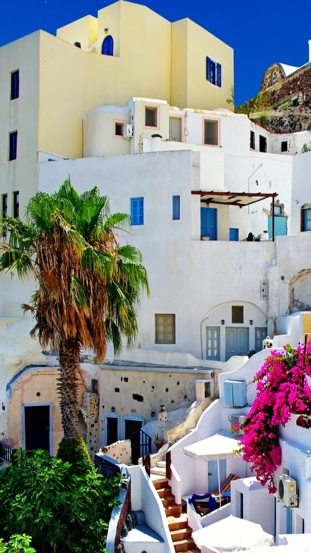 Santorini Oia iPhone se Download 640x1136