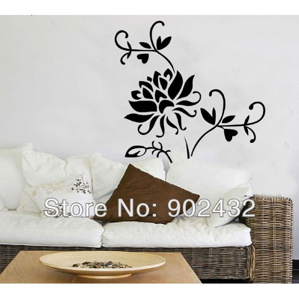 Removable Wall Sticker Flower Home Decoration Giant Wall Decals JM7040 600x600