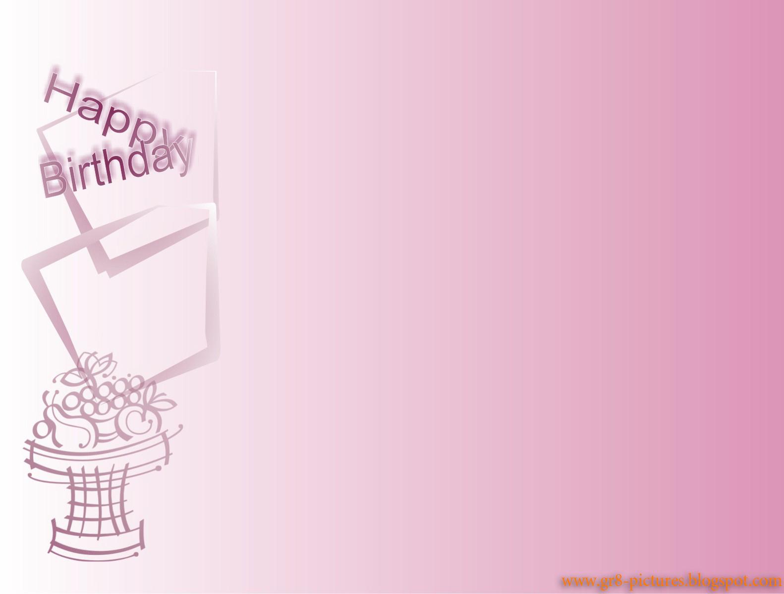 Pink happy birthday wallpaper 1582x1200