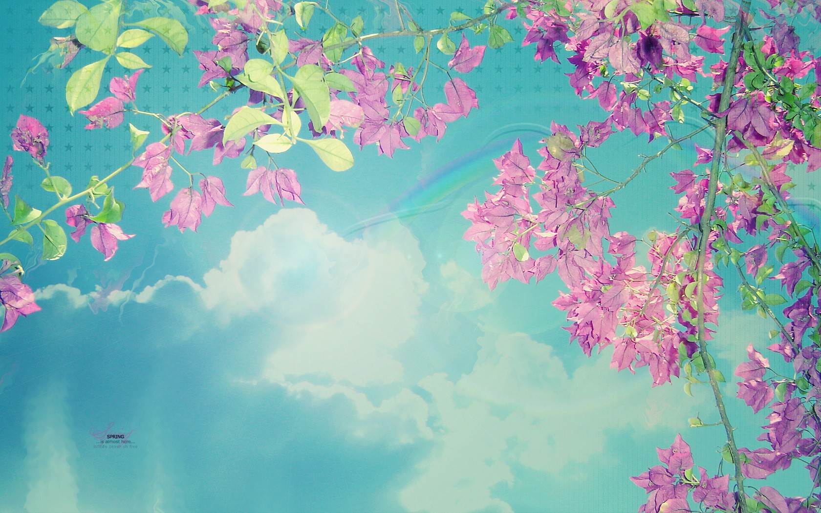 Spring Skies Desktop Wallpapers Pink Blue Spring Skies Desktop 1680x1050