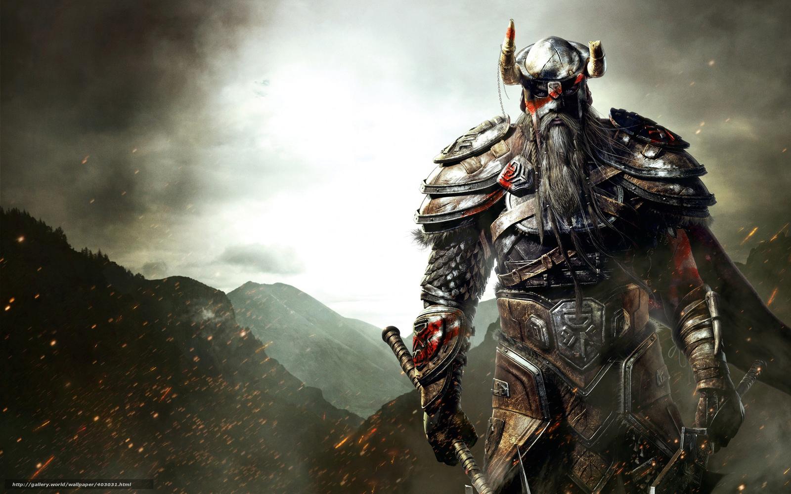 Download wallpaper viking armor sword ax desktop wallpaper in 1600x1000