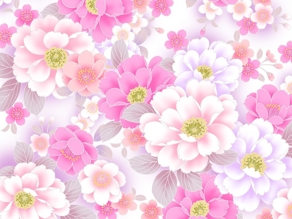 Cute Flower Background Pink Flowers Healthy