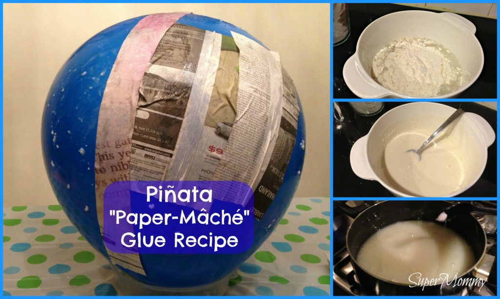 Making the pasteglue for your paper mache pinata is really easy and 1024x613