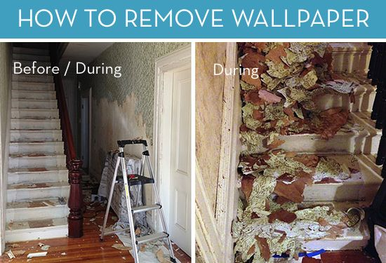 and After How to Remove Wallpaper Curbly DIY Design Community 550x375