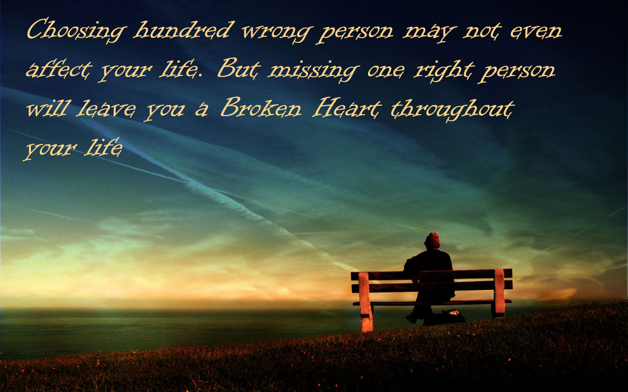 Broken Heart Wallpapers with Quotes 1280x800