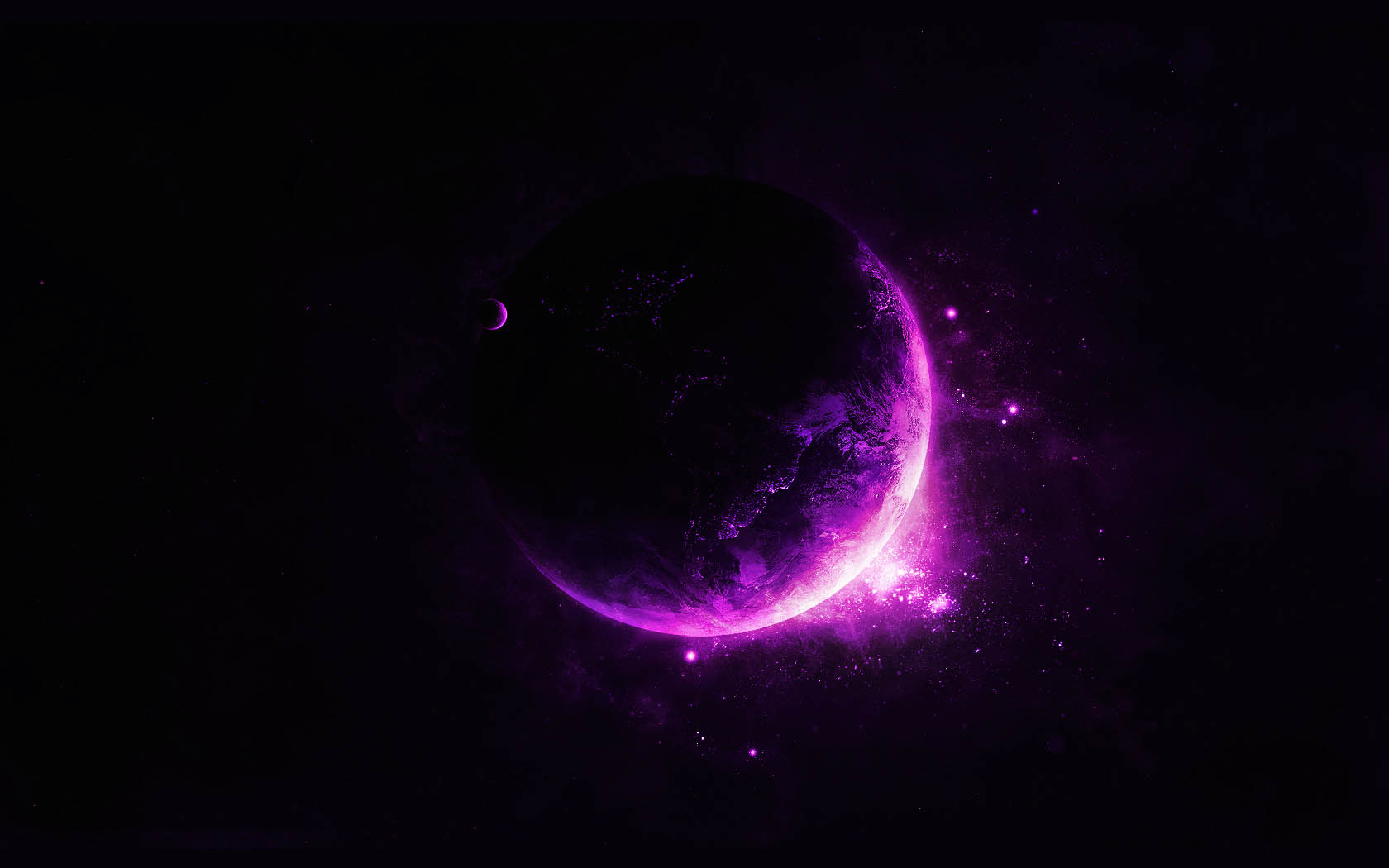 Purple Moon Wallpaper 3284 Hd Wallpapers in Space   Imagescicom 1680x1050