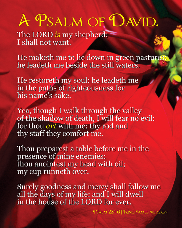 Psalm 23 King James Version PC Android iPhone and iPad Wallpapers 614x768