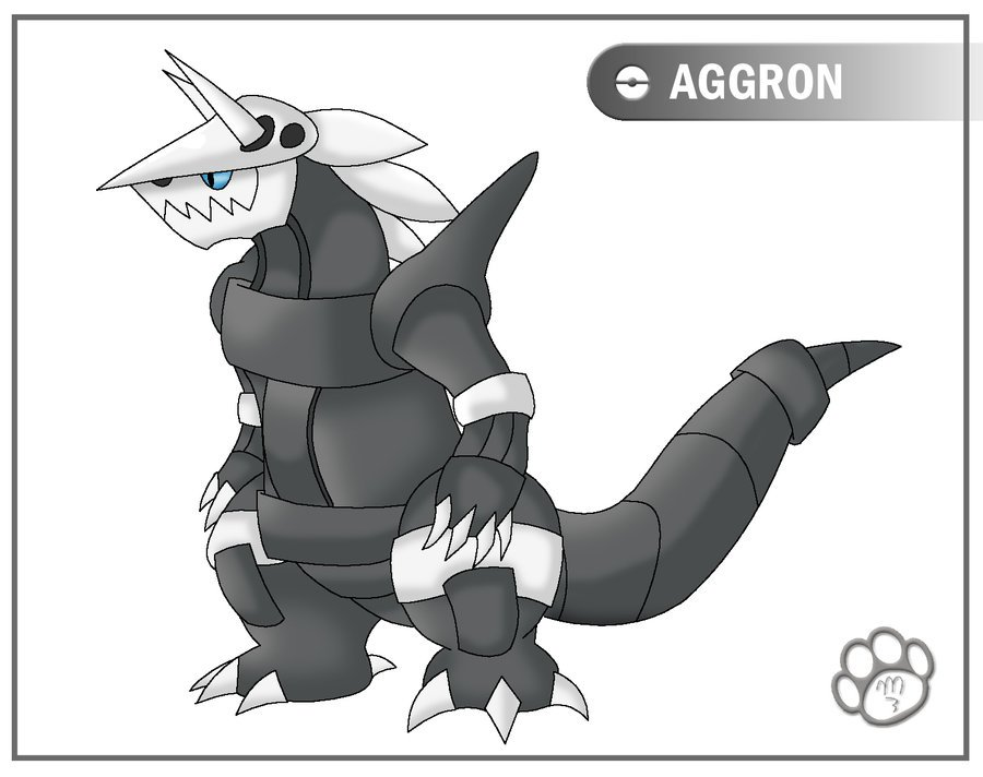 PokeRef   Aggron by Marcella Youko 900x712