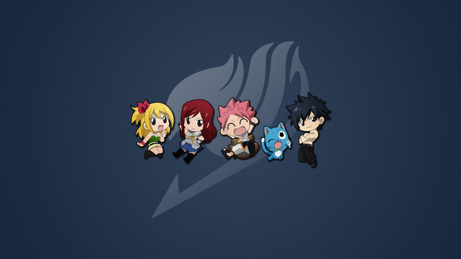 Fairy Tail Guild Logo Chibi Lucy Heartfilia Erza Scarlet Natsu 1600x900