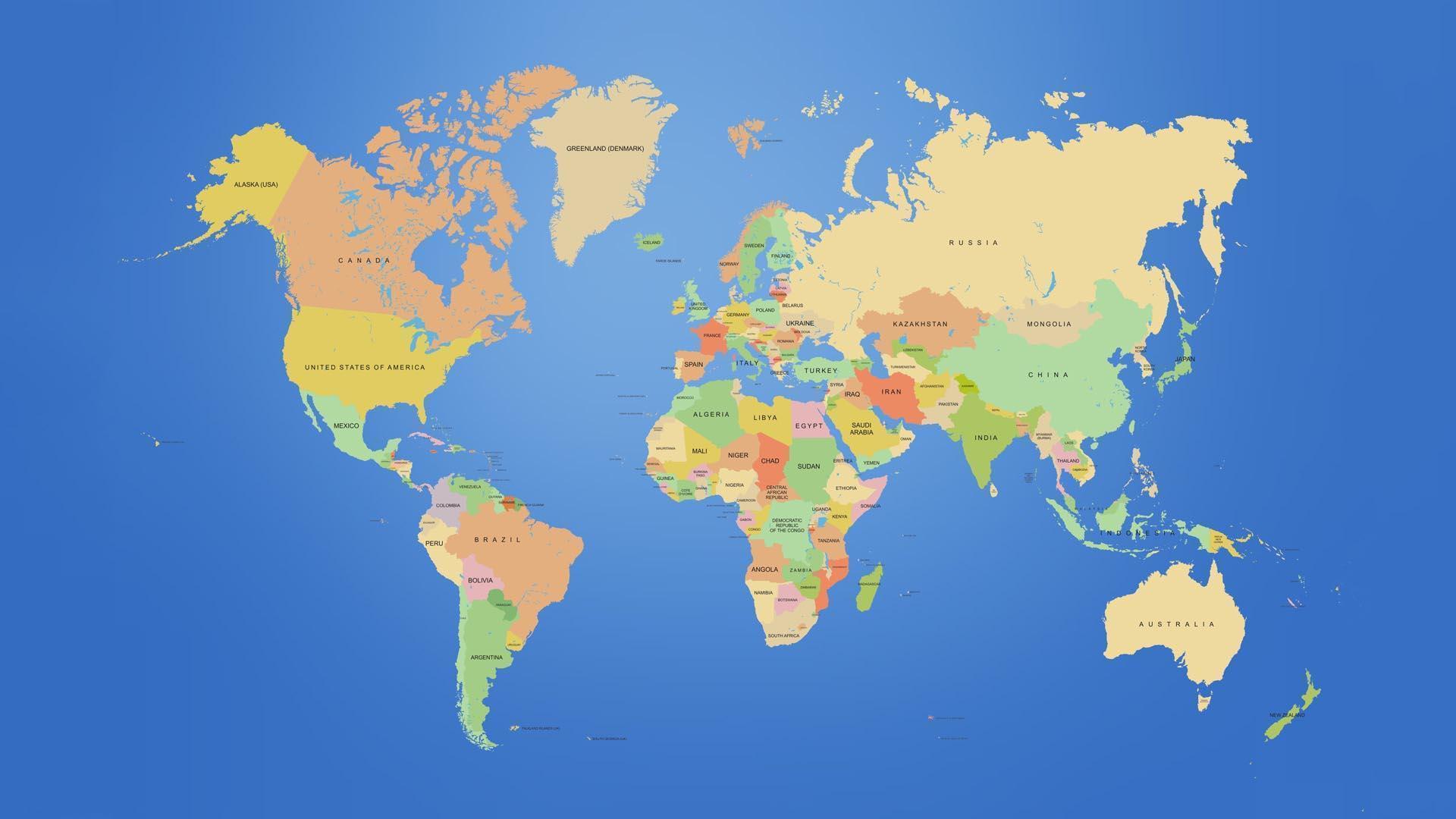 World Map Desktop Backgrounds 1920x1080