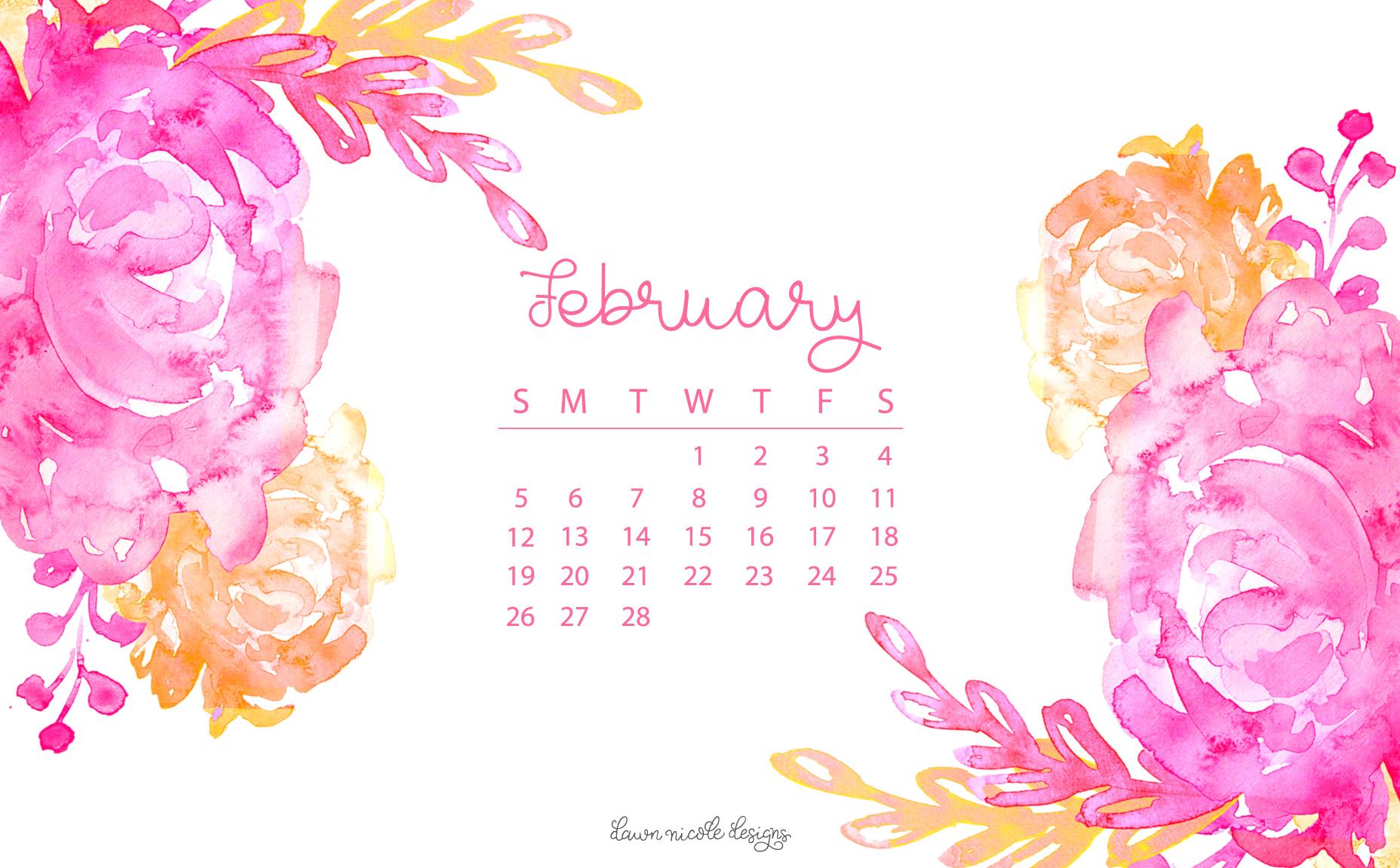 February 2017 Calendar Tech Pretties Dawn Nicole Designs 1856x1151