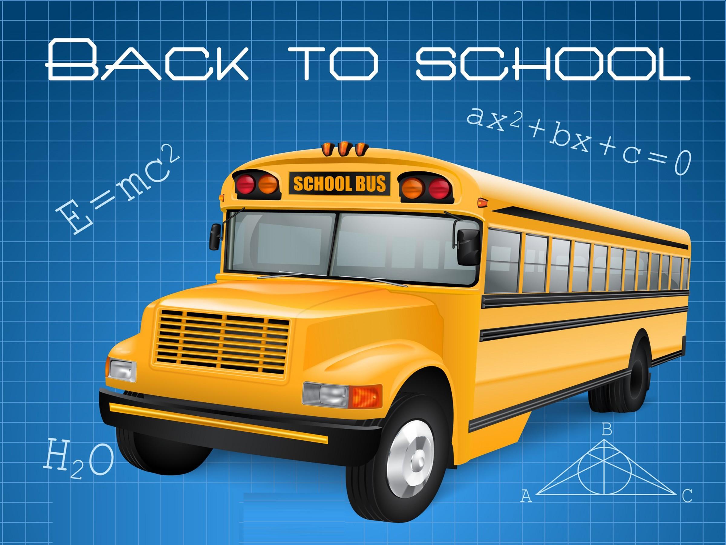 School Bus Wallpaper 2400x1800