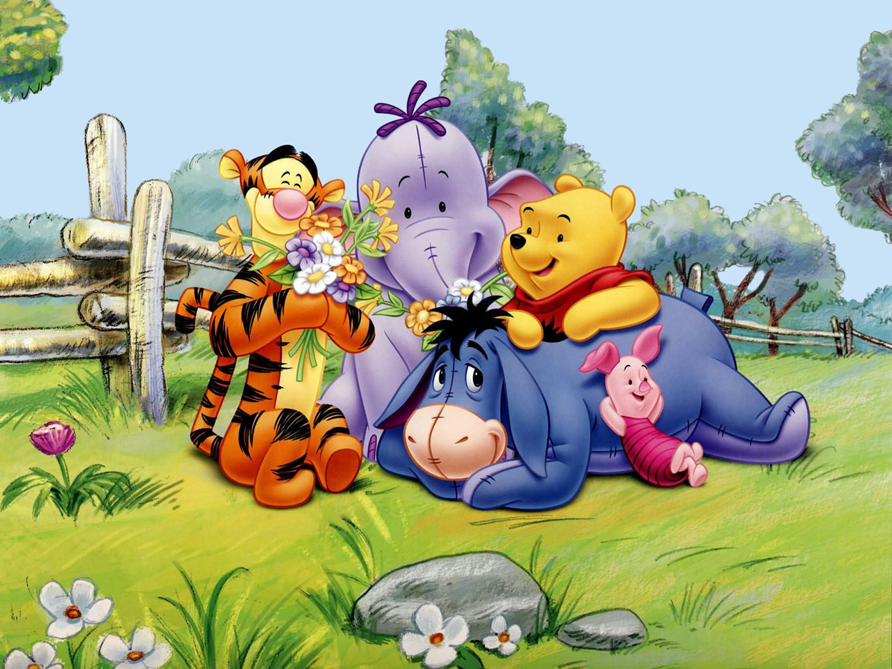 pooh friends   Classic Disney Wallpaper 8414073 1280x960