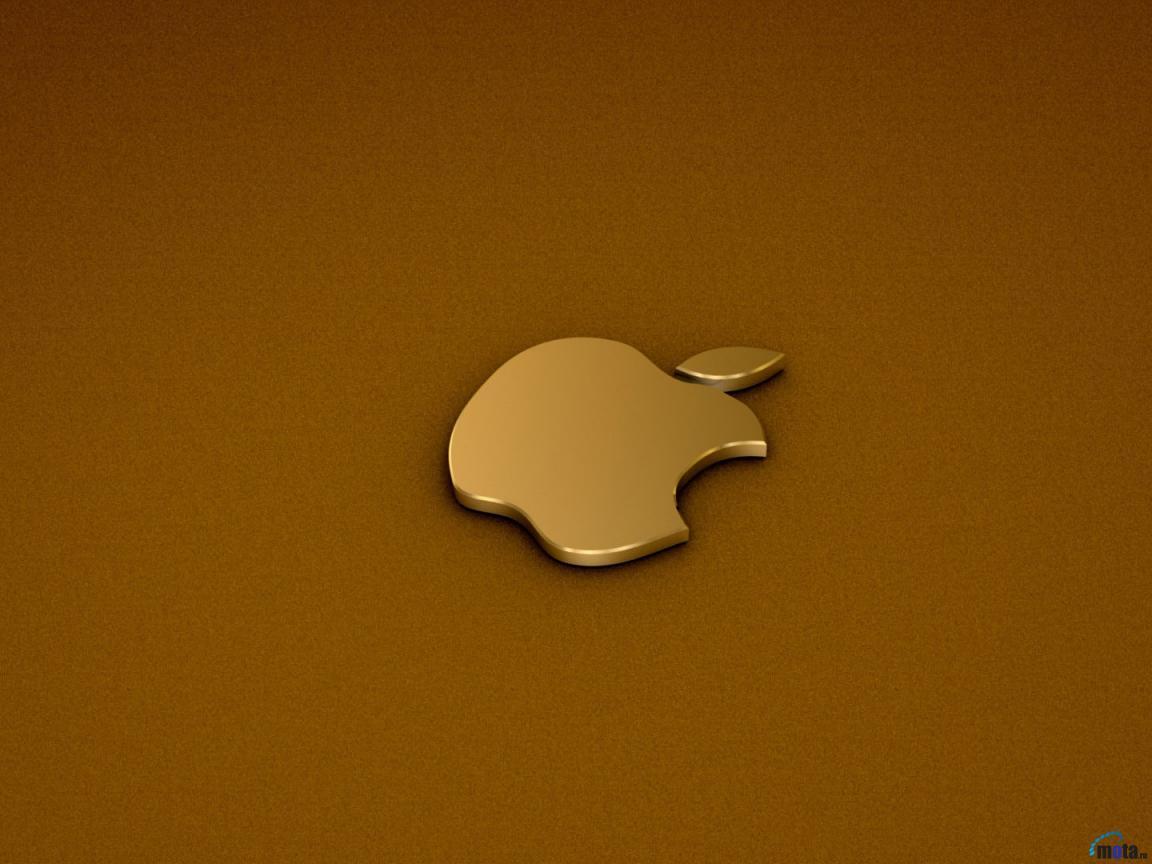 1152x864px Gold Apple Wallpaper Wallpapersafari
