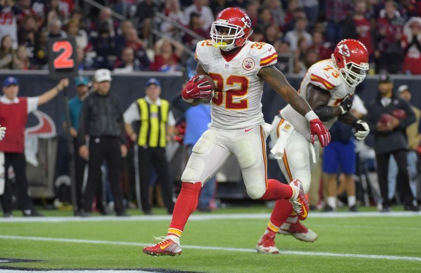 Jan 9 2016 Houston TX USA Kansas City Chiefs running back Spencer 850x552