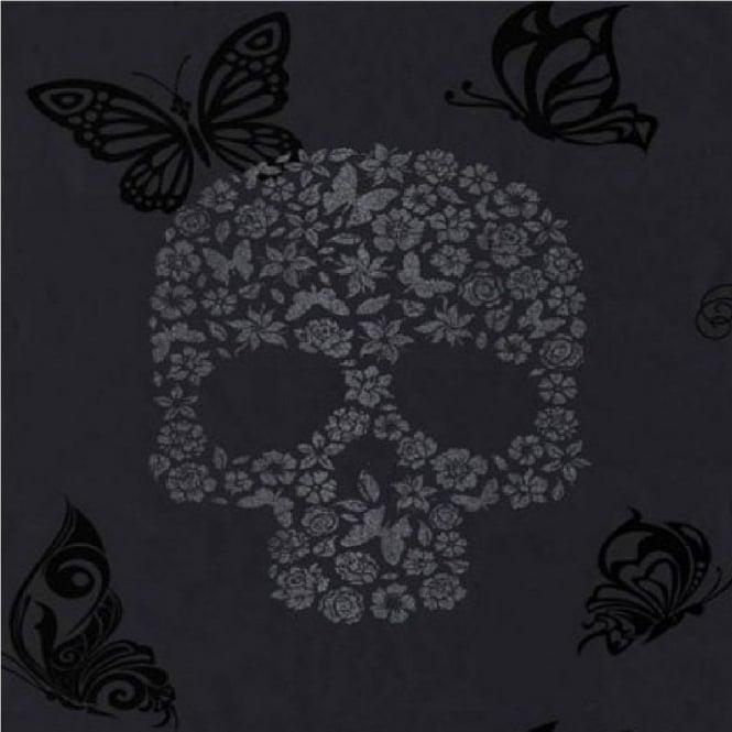 Wallpaper Muriva Muriva Skulls Glitter Wallpaper J21809 665x665