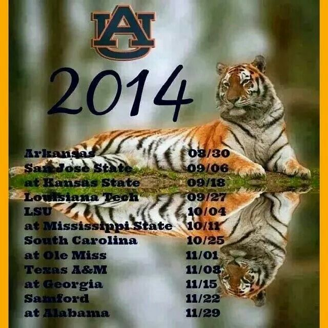 2014 Auburn Football Schedule WDE auburnfootball SEC tigerpride 640x640