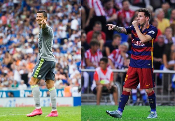 Ronaldo vs Messi 2015 600x418