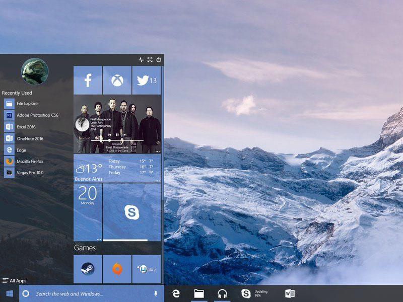 Windows Redstone Concept Reimagines Windows 10 800x600