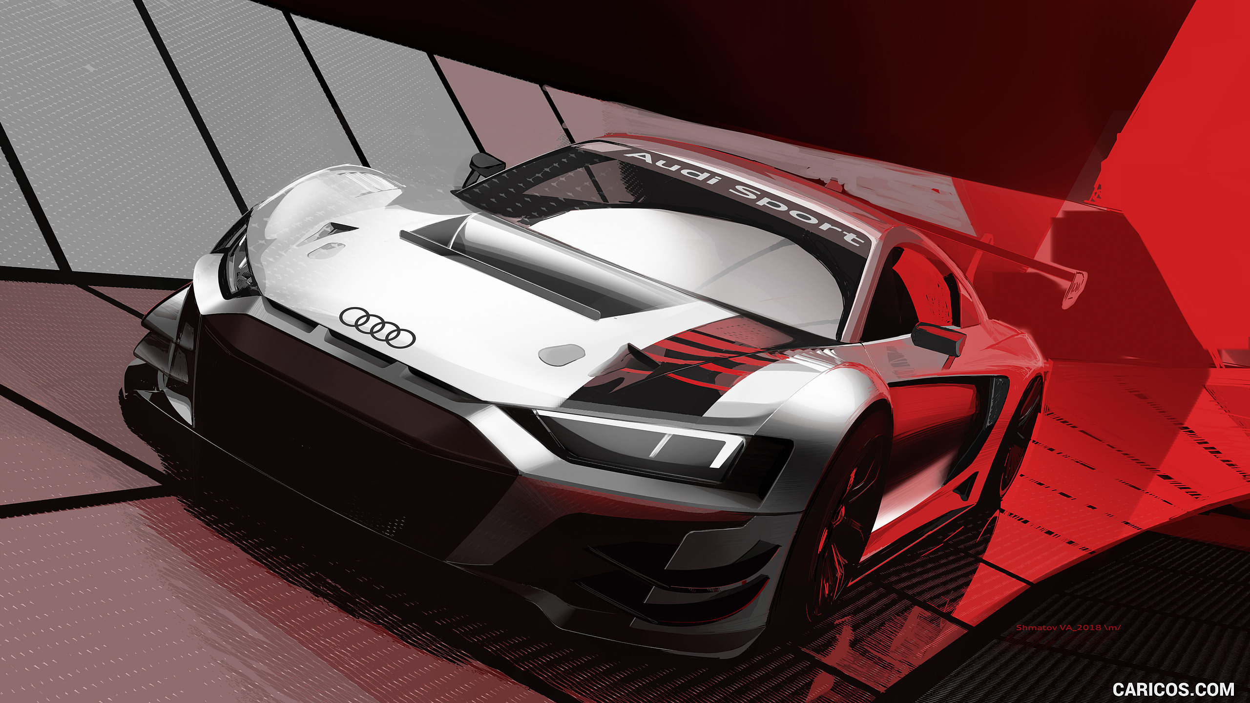 2019 Audi R8 LMS GT3   Design Sketch HD Wallpaper 18 2560x1440