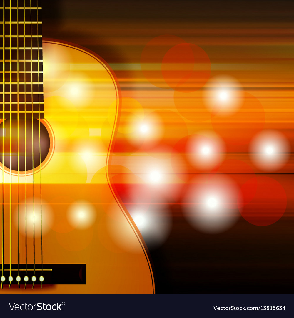 Abstract background with acoustic guitar Vector Image 1000x1080
