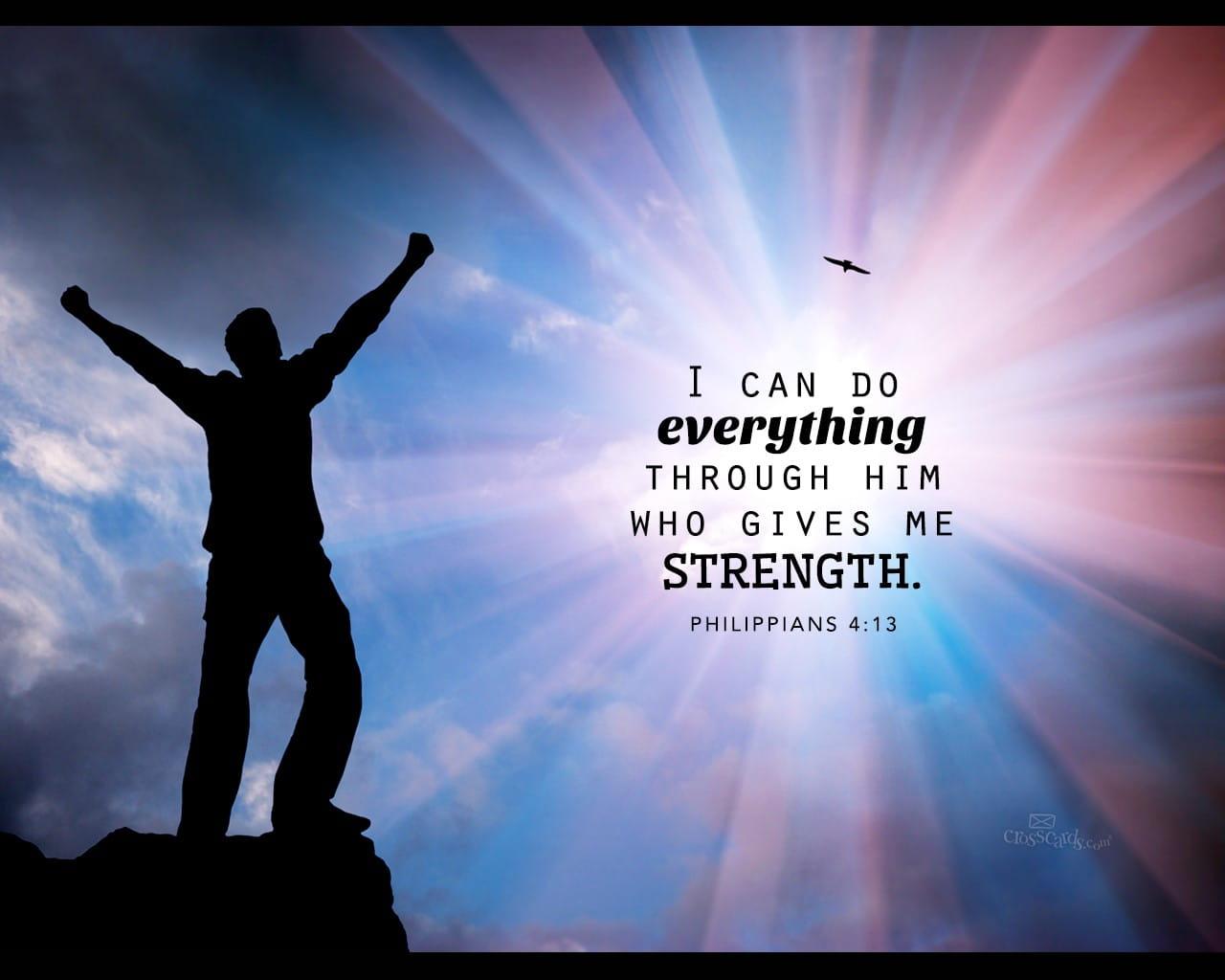 Philippians 44   Strength   Bible Verses and Scripture Wallpaper 1280x1024