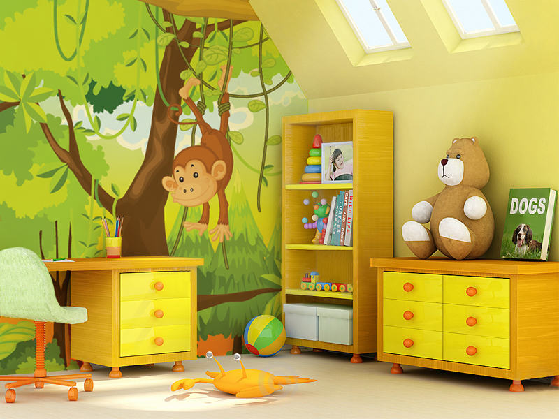 Wall Bedroom Childrens Rooms Mural Nursery Border Photo Wallpapers For Every Room 800x600