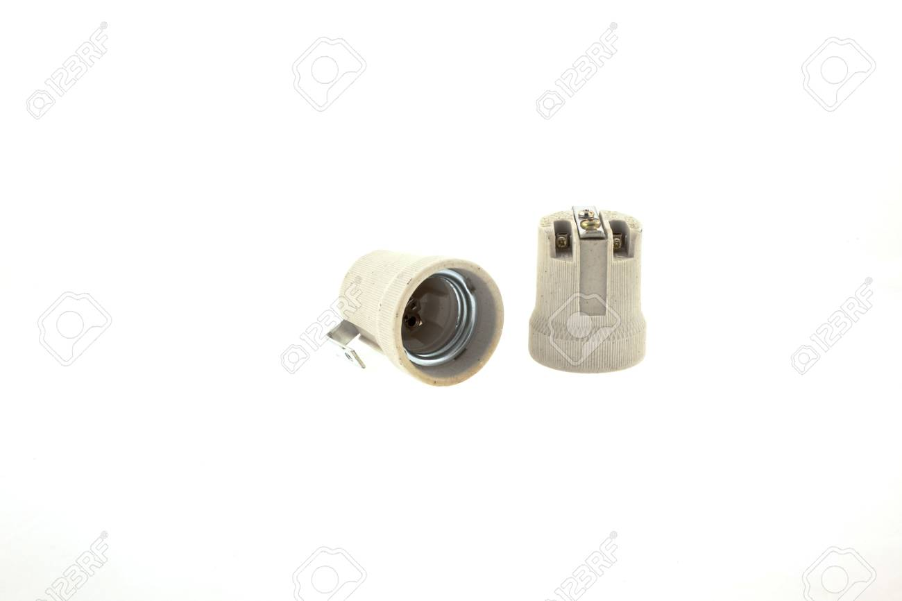 Two Lamp Ceramic Patron On A White Background Stock Photo Picture 1300x866