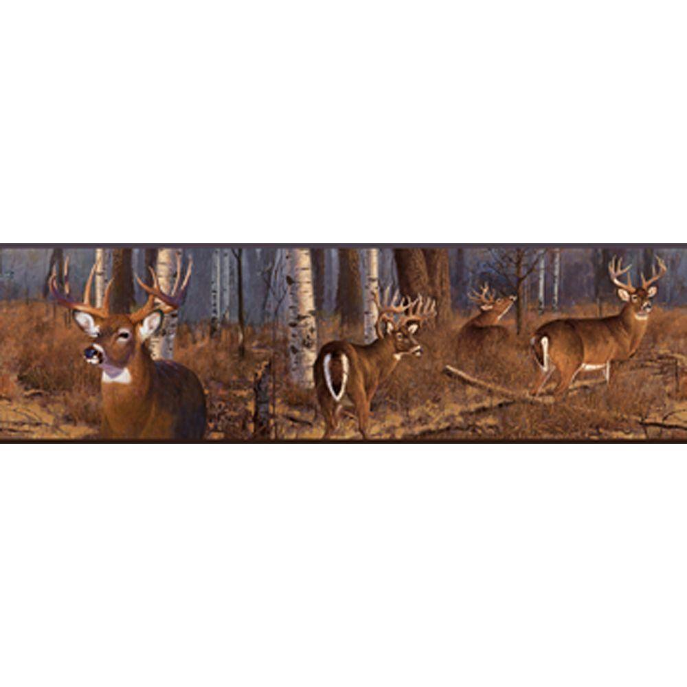 Lake Forest Lodge Deer Wallpaper Border Products Deer 1000x1000