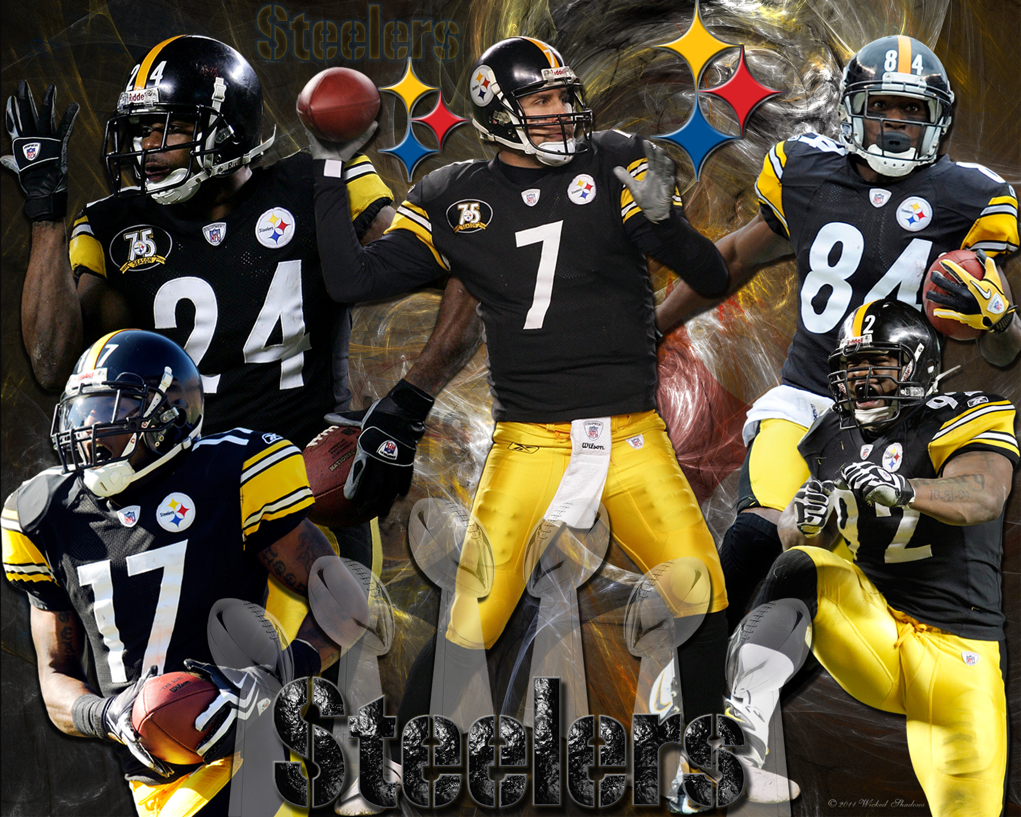 45 Nfl Football Players Wallpaper On Wallpapersafari: [48+] 3D Pittsburgh Steelers Wallpaper On WallpaperSafari