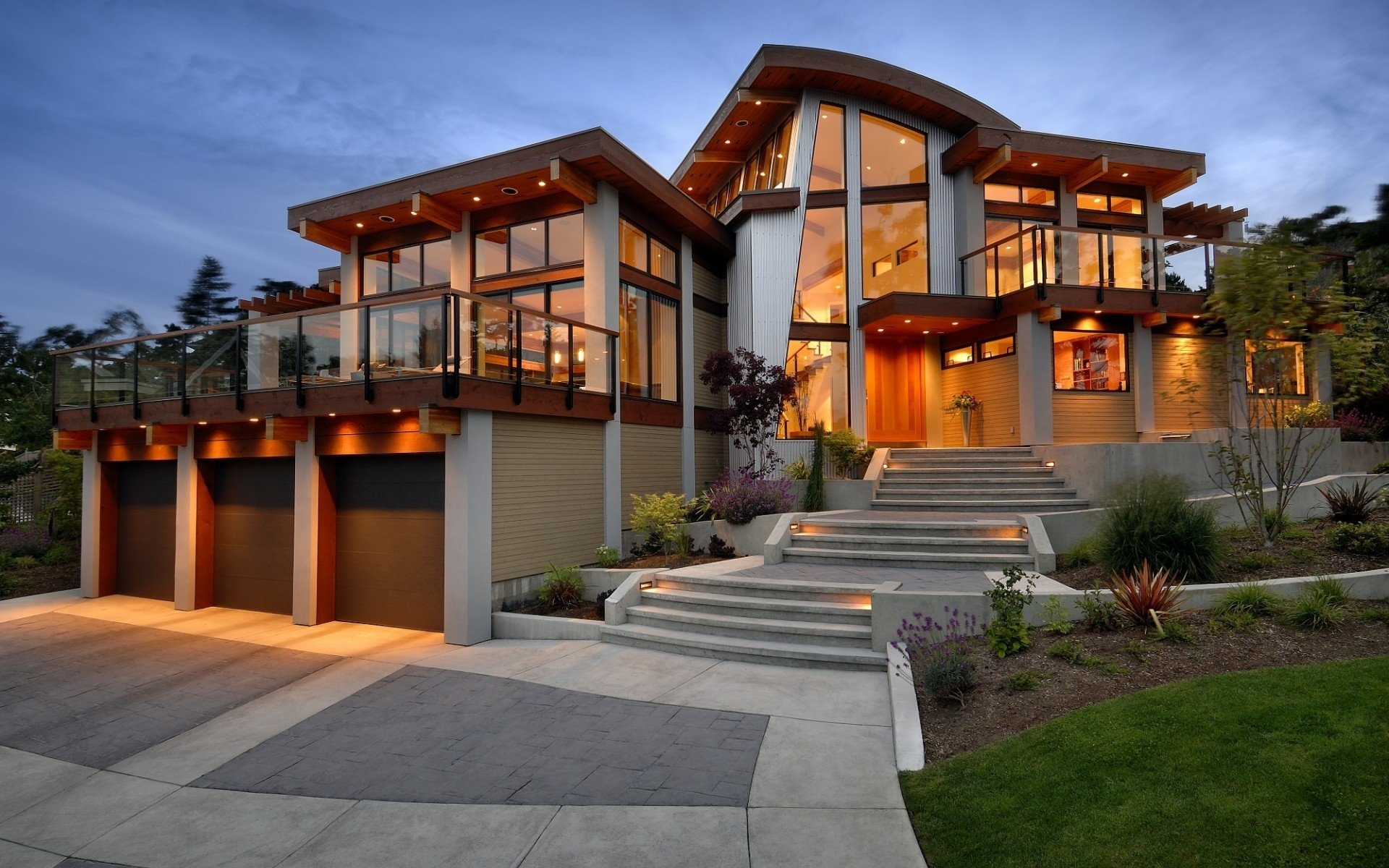 Modern Luxury House Desktop HD Wallpaper 62362 1920x1200px 1920x1200